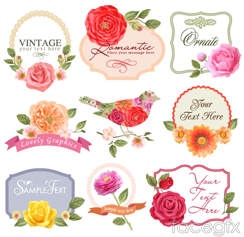 flower tags template free - 9 beautiful flower label vector diagrams over millions