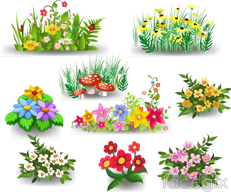 9 Cartoon Flower Design Vector Over Millions Vectors