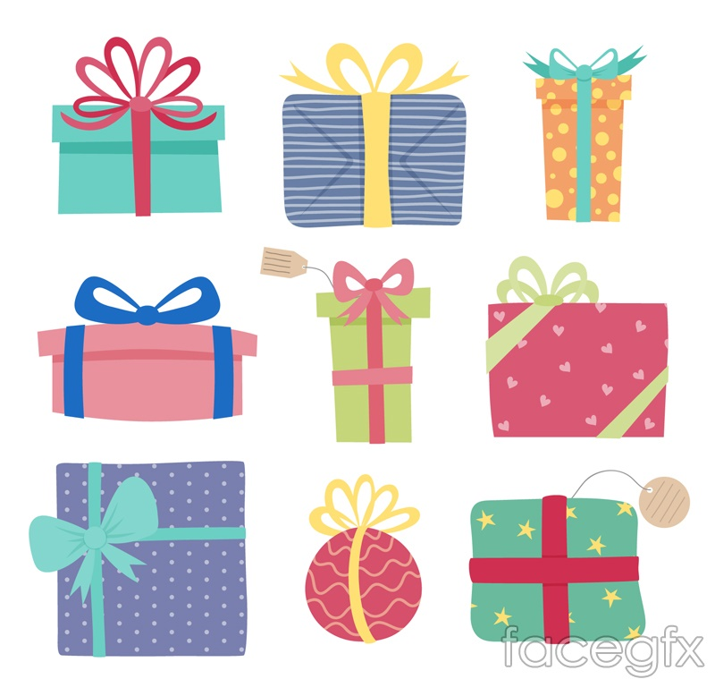 9 Color Gift Box Vector Over Millions Vectors Stock
