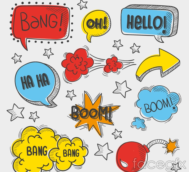9 comic book-style language bubble vector – over millions vectors, Modern powerpoint