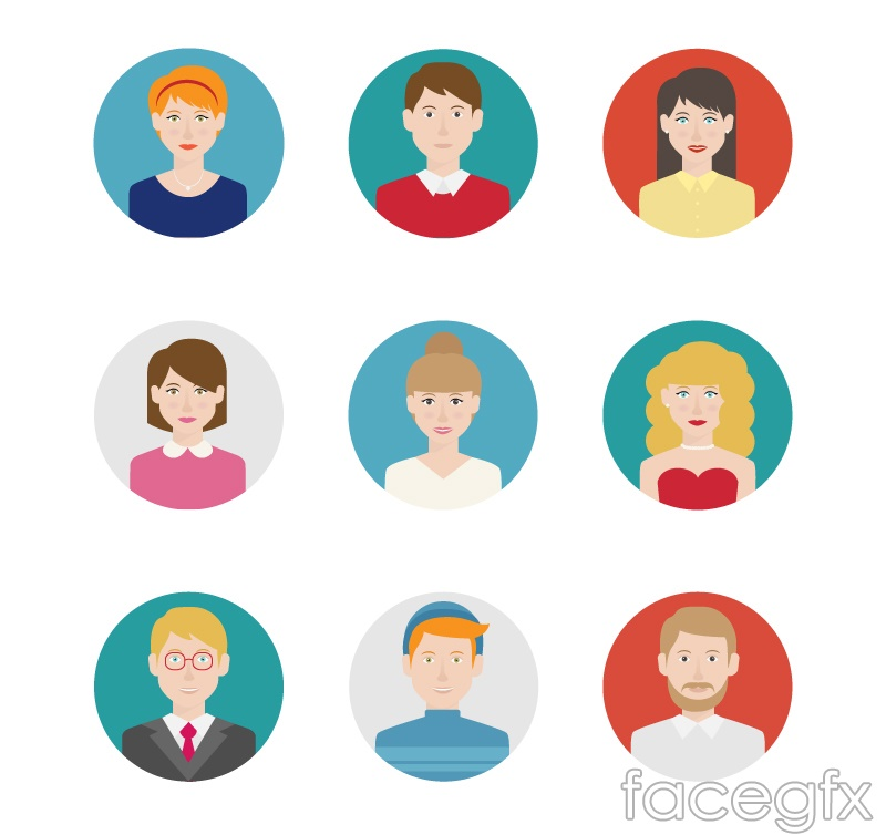 9 round character avatar icon vector – Over millions vectors, stock