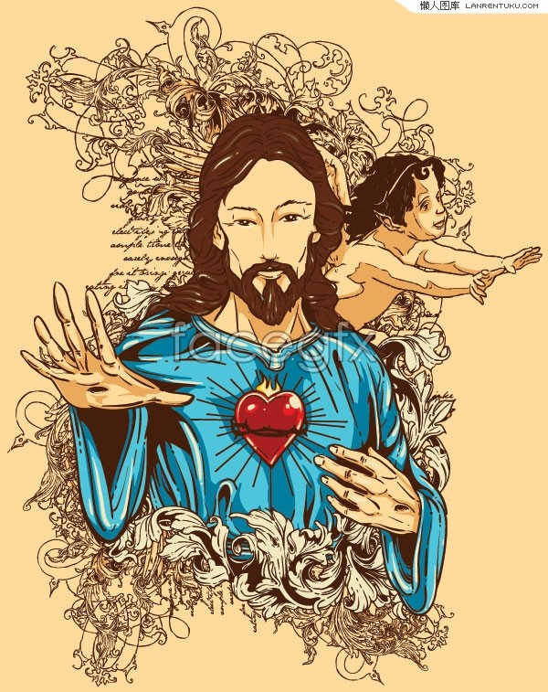 illustration vector character jesus A – Over millions