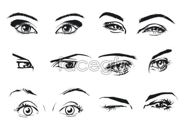A woman in the eye vector over millions vectors stock photos a woman in the eye vector toneelgroepblik Images