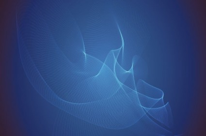 Abstract Blue Wave Vector Illustration