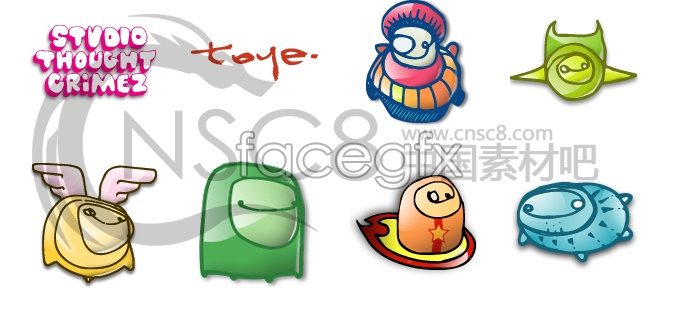 Abstract concept cartoon icons