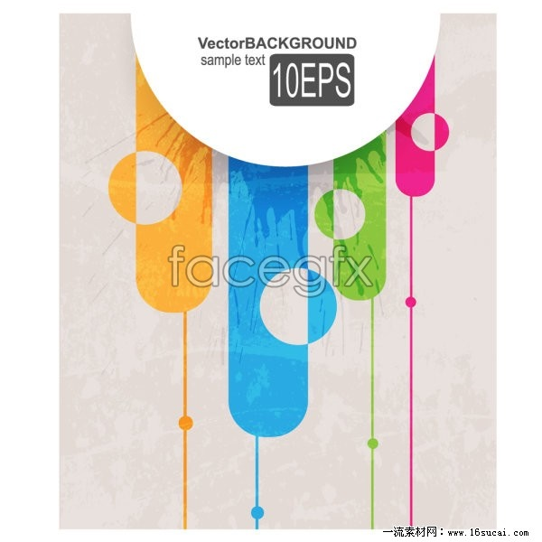 Abstract ink color vector II
