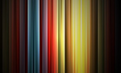 Abstract Rainbow Colors on Black Background Vector Graphic