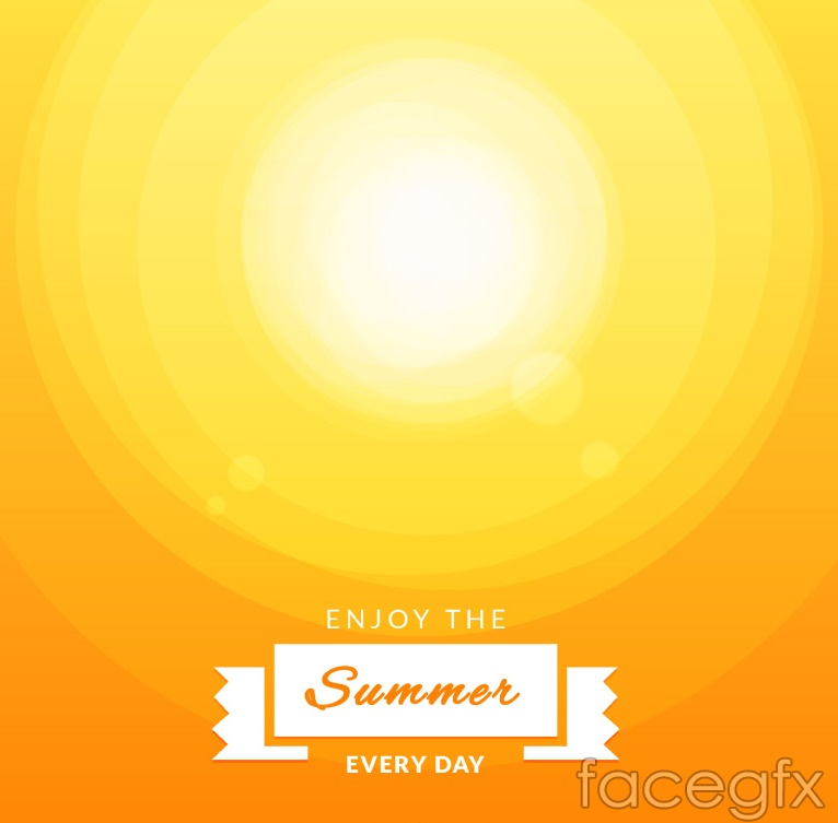 Abstract summer sun vector background