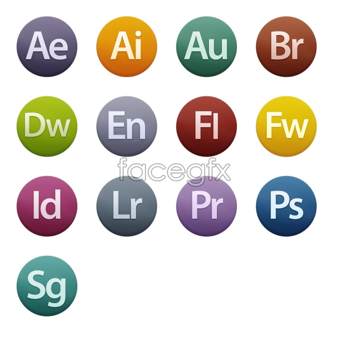 Adobe cs6 software icons