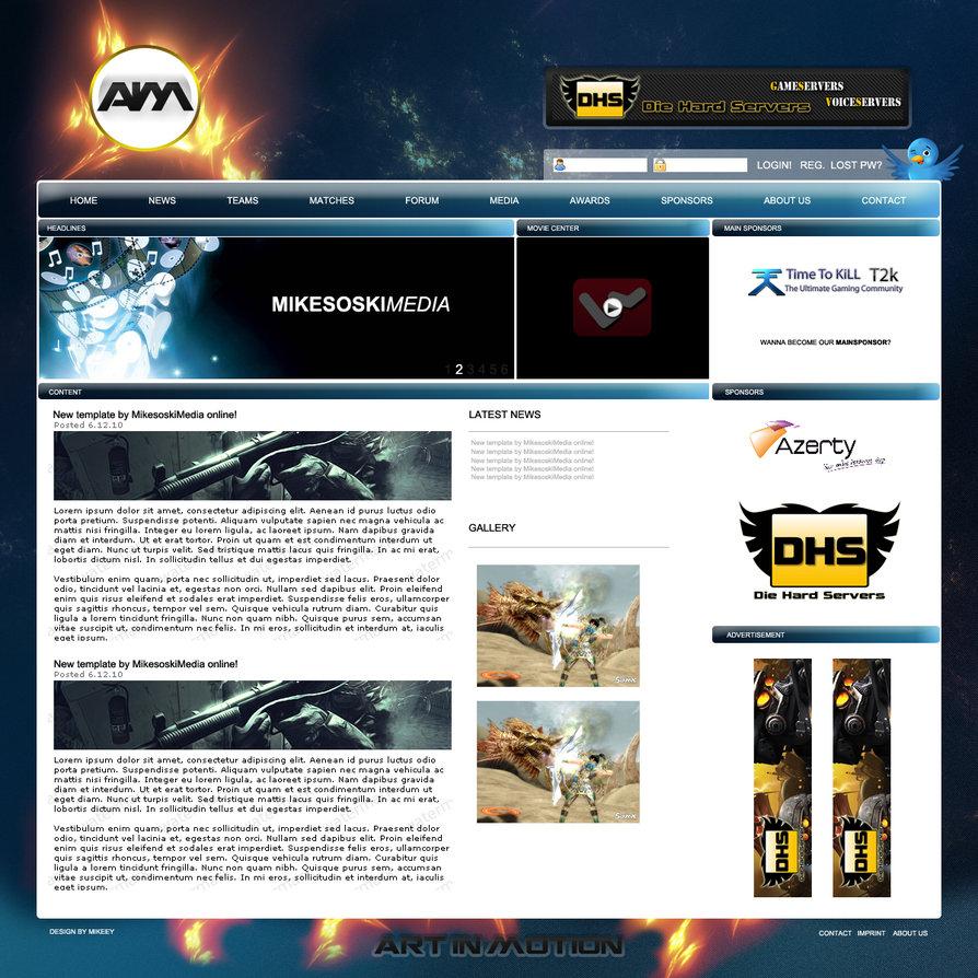 Aimotion gaming webdesign