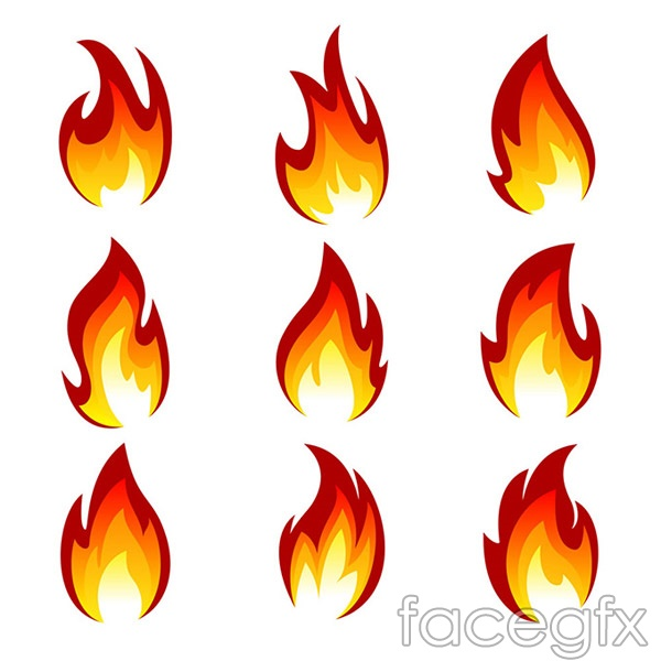 All kinds of fire vector