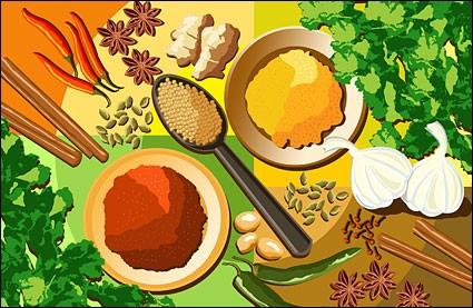 All kinds of seasonings and ingredients