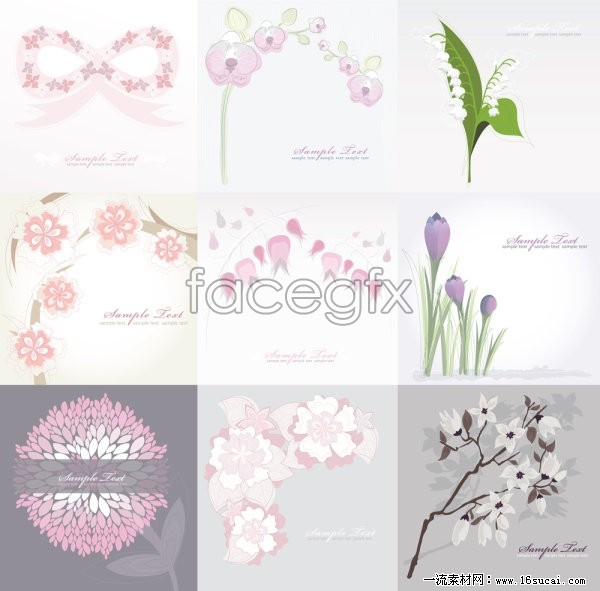 An elegant flowers plant background vector map