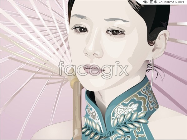An Oriental Beauty vector