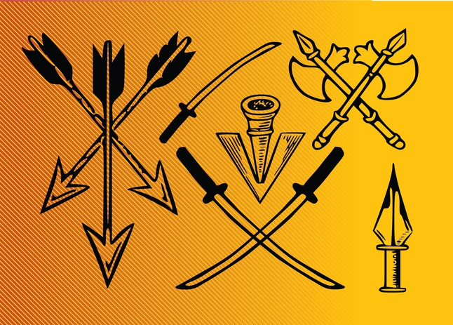 Ancient Weapons vector free