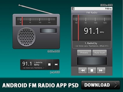 Android FM Radio Application PSD