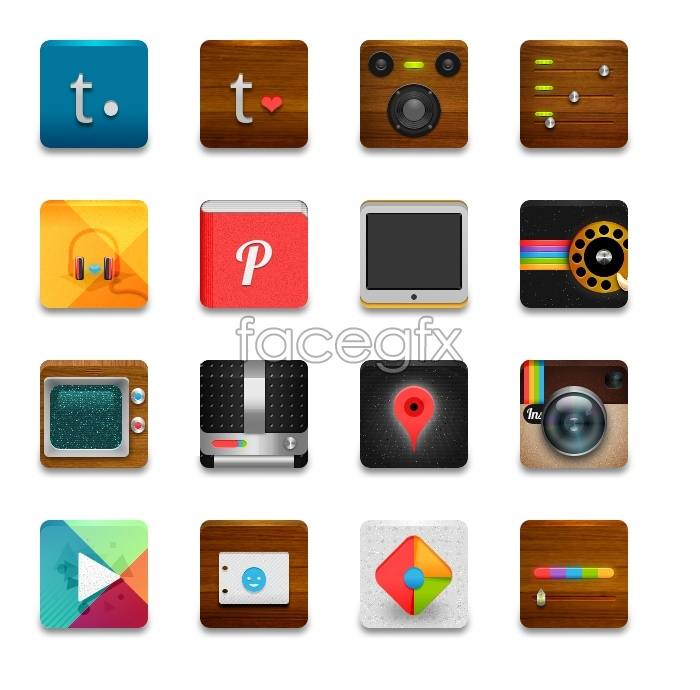 Android icons transparent