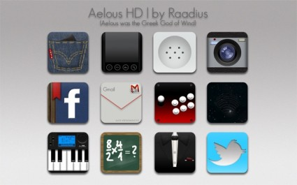Android OS specific set icons pack