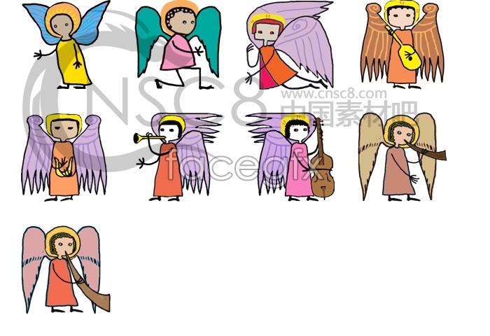 Angel line dance style