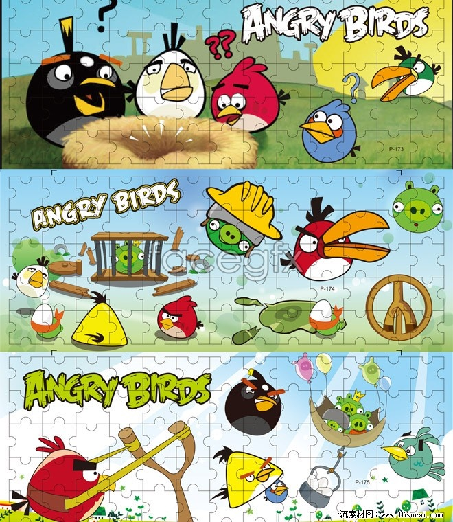 Angry Bird Cartoon Puzzle Vector Over Millions Vectors