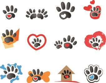Animal footprints design vector