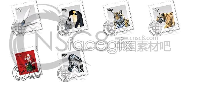 Animal stamp icon