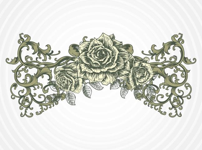 Antique Rose Vector free