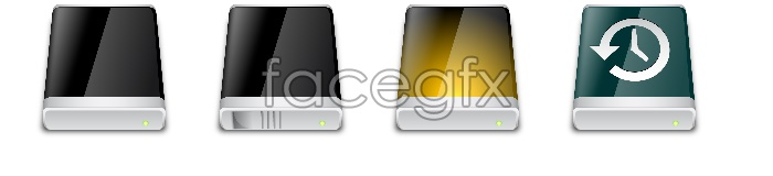 Apple drive icons