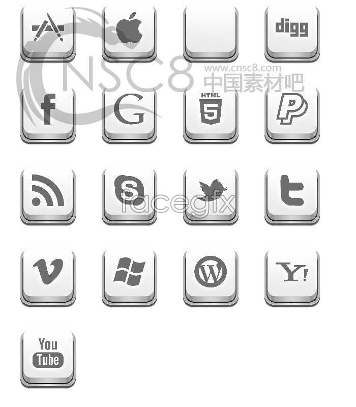 Apple keyboard desktop icons