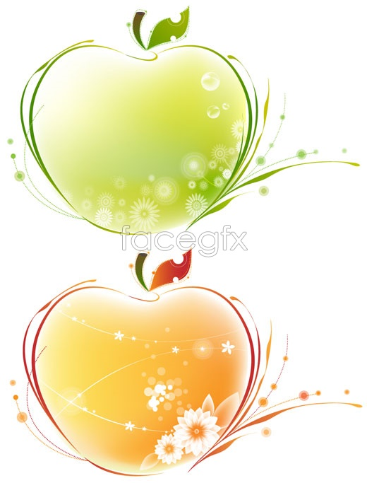 Apple pattern vector