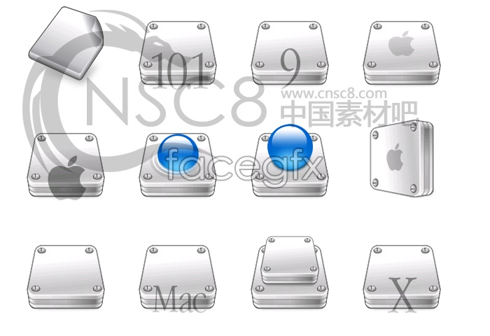 Apple stereo hard disk icon