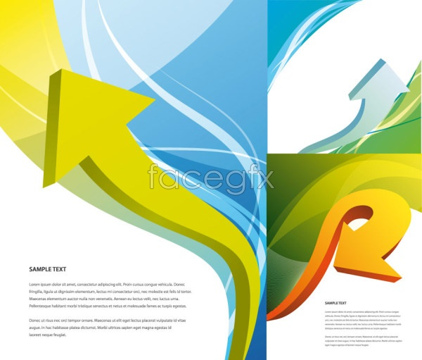 Arrows and magic background Vector