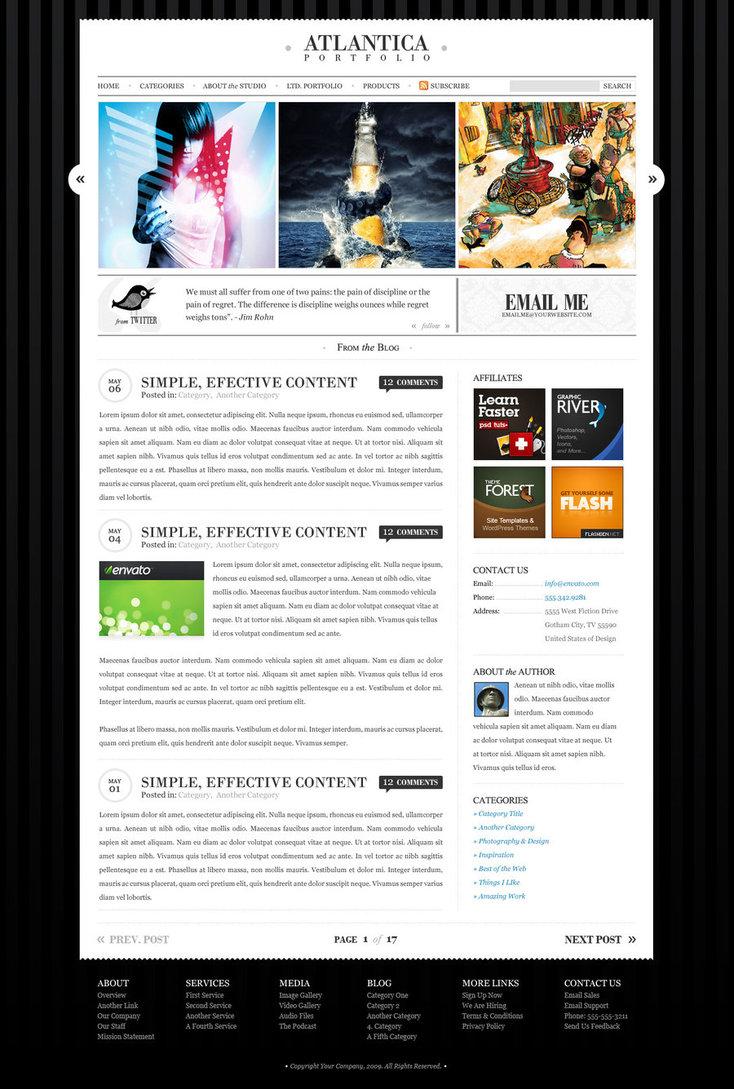 Atlantica WordPress + HTML …