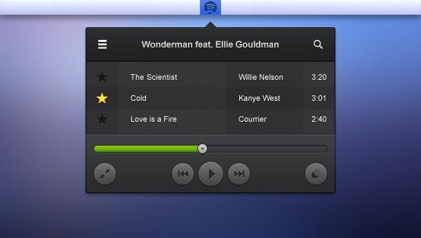 Audio player menu bar psd template – Over millions vectors