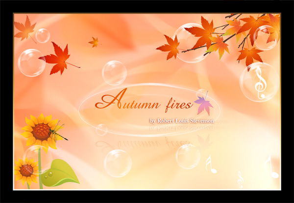 Autumn colorful advertising background PSD