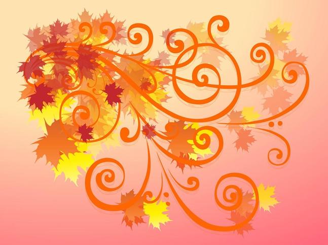 Autumn Decoration vector free