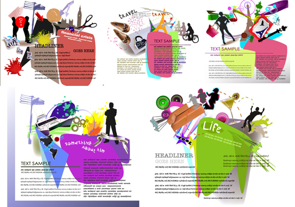 Elements Of Fashion Design : Background elements of fashion design vector over