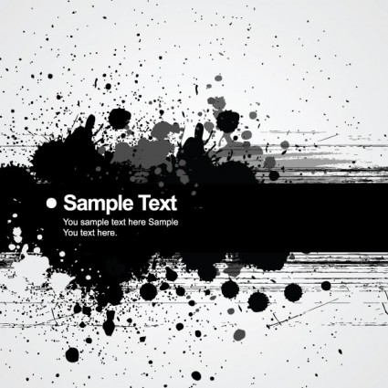background ink splatter 01 vector
