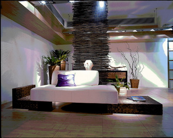 Bali style furniture 3D model of 4-3 sets (including texture mapping)