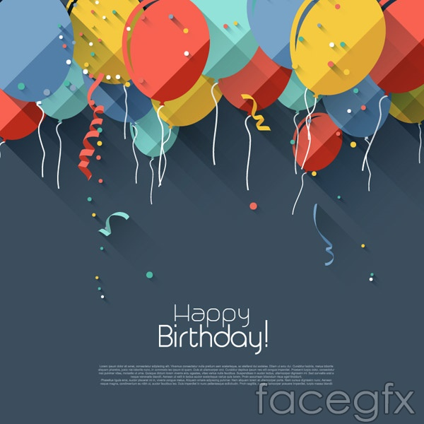 Balloon decorating a birthday card vector Over millions vectors – Vector Birthday Cards