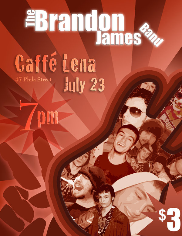 Bandon James Band Flyer 2008