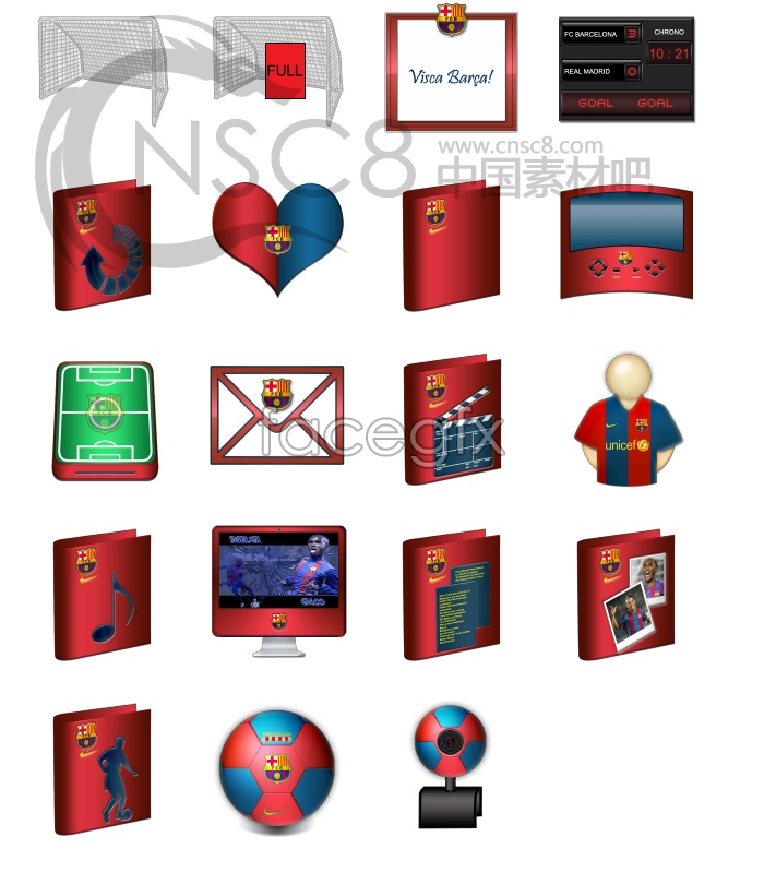 Barcelona team topic icons