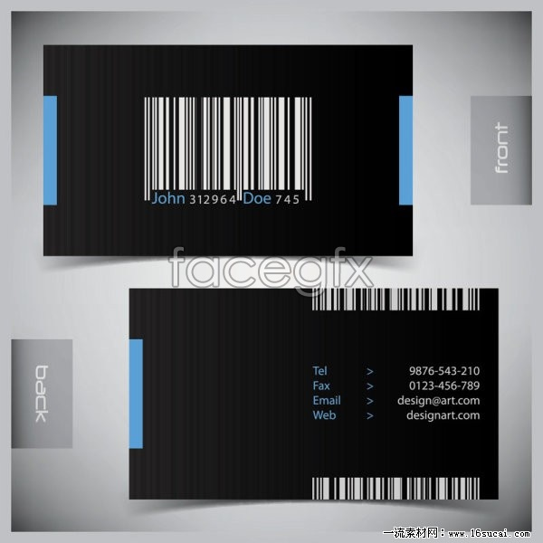 barcode background business card template vector over millions