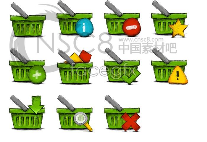 Basket desktop icons