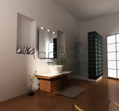 Bathroom model 3D model