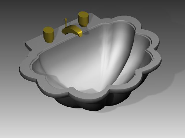 Bathroom – wash tank 012 3D Model