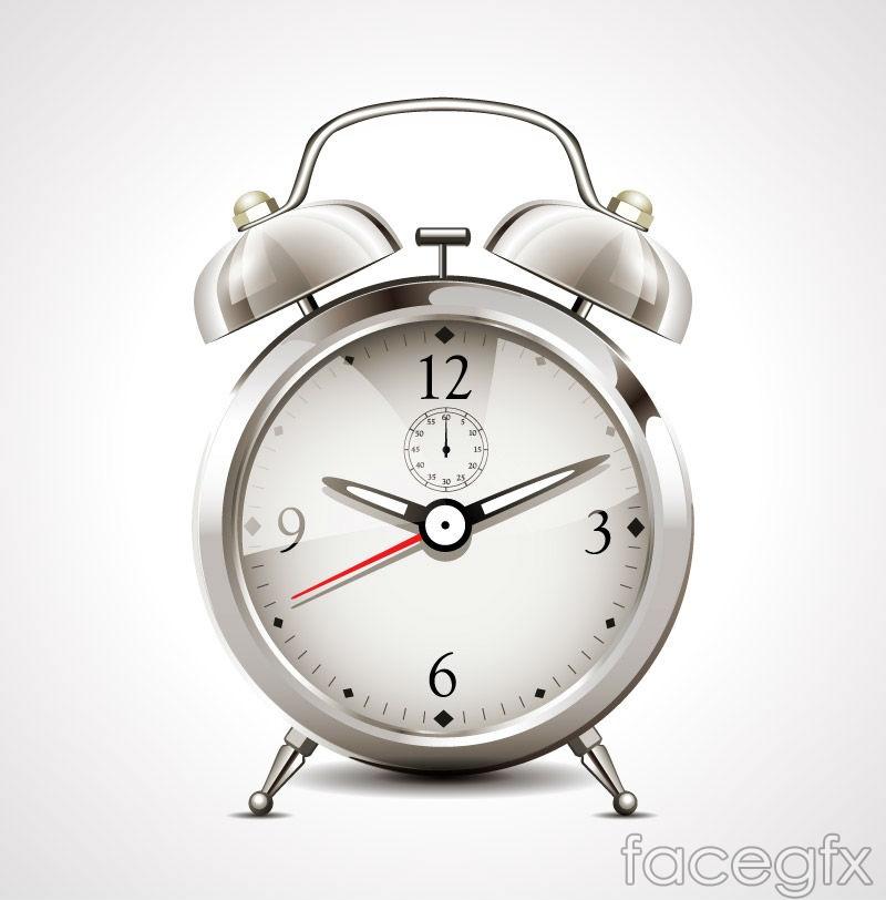 Beautiful alarm clock design vector