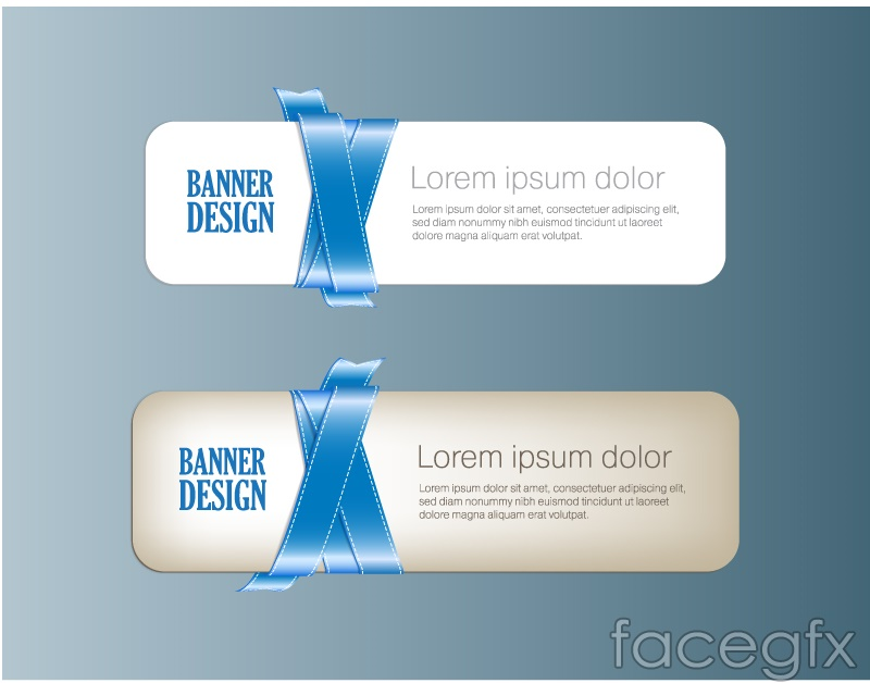 Beautiful blue ribbon banner vector – Over millions vectors