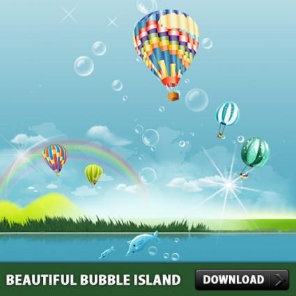 Beautiful Bubble Island PSD file