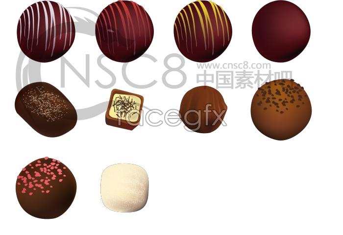 Beautiful chocolate icon